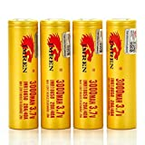 4x Imren 3000MAH 20/40A IMR 18650 3.7V FT NEW PURPLE VERSION in PVC CASE authentic original flat top high drain battery batteries by V Force
