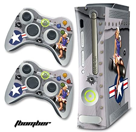 New XBOX 360 Console Protective Decal Skin - Tbomber - Silver