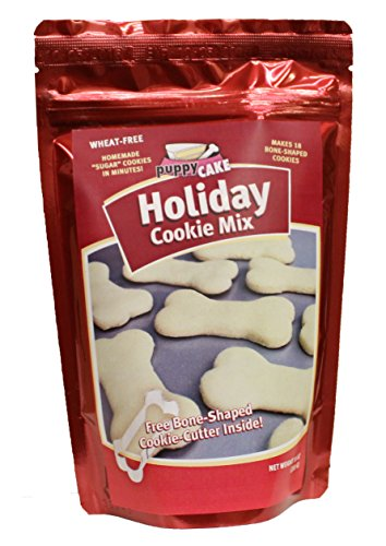 Holiday cookie mix and bone shaped cookie cutter for dogs 10 oz home