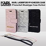 エアージェイ KARL LAGERFELD(カール・ラガーフェルド) iPhone5s/5専用 手帳型キルティングケース [Booktype Case Kuilted] KLFLBKP5QB