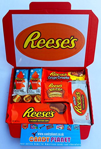 reeses-peanut-butter-cups-big-cup-white-chocolate-crispy-crunchy-bar-mini-christmas-trees-american-s