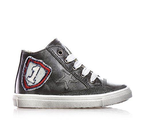 CIAO BIMBI - Sneaker grigia stringata in pelle, Bambino,ragazzo-30