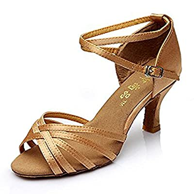 Hot-Selling Brand New Latin Dance Shoes High Heel for Ladies/Girls/Women/Ballroom Tango Shoes 7cm-Knotted Beige,3.5