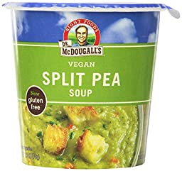 Dr. McDougall\'s Right Foods Vegan Split Pea Soup Gluten Free, 2.5-Ounce Cups (Pack of 6)