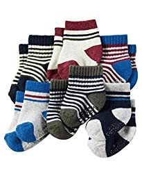 Carter\'s Baby-Boys Socks, Striped, 3-12 Months (Pack of 6)