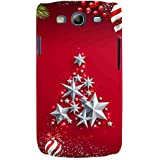 For Samsung Galaxy S3 I9300 :: Samsung I9305 Galaxy S III :: Samsung Galaxy S III LTE Merry Christmas ( Merry Christmas, Good Quotes, Christmas Tree, Grass, Fruit, Star ) Printed Designer Back Case Cover By FashionCops