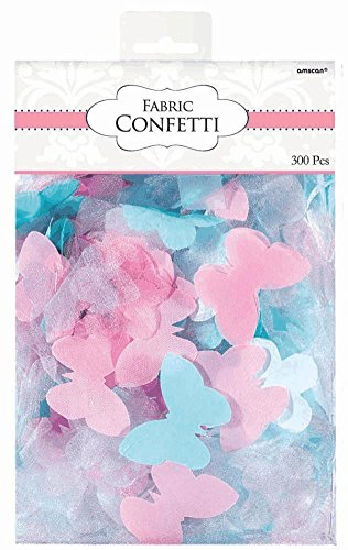Amscan Value Pack Sweet Blue and Pink Flowers & Butterflies Party Confetti, 1.2 oz, Multi
