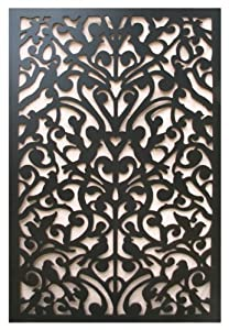 Acurio Ginger Dove Black Vinyl Lattice Decorative Privacy
