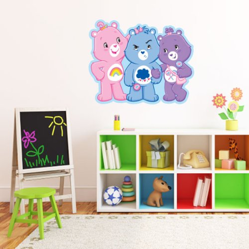 """Care Bears Three Bears Together Wall Graphic Decal Sticker 25"""" X 20"""" front-481296"""