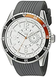 Esprit Varsity Orange Analog White Dial Mens Watch ES104131001