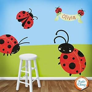 my wonderful walls ladybug wall stickers decals red
