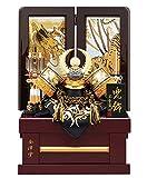 五月人形 徳川家康 兜収納飾り 兜飾り 宝童監修 金彫金徳川兜 8号 h285-mm-126