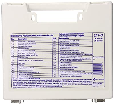 First Aid Only Blood Borne Pathogen/Personal Protection Kit with Microshield by First Aid Only