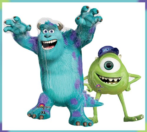 1 X Monsters University Mike & Sulley Jumbo Mylar Balloon Set Birthday Party set of (2) by Qualatex - 1