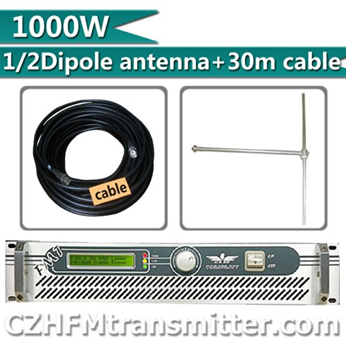 Fmuser 1000W Fm Transmitter+1/4 Wave Dv1Dipole Antenna+30Meters Cable