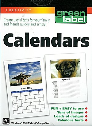 [CD-ROM] Calendars by Green Label & PC Treasures