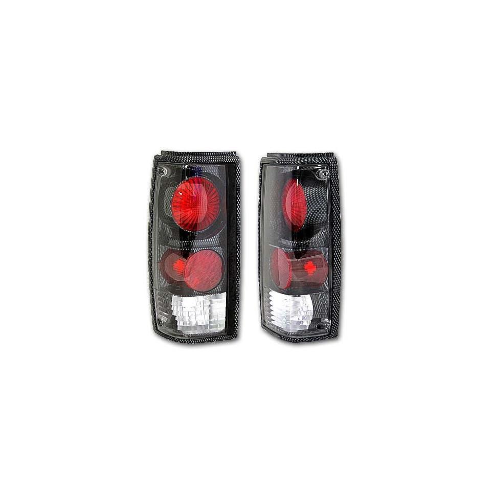 82 93 CHEVY S10 S15 GMC SONOMA 83 94 CHEVY BLAZER GMC JIMMY CARBON FIBER TAIL LIGHTS LAMP