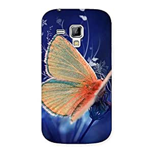 Yellow Thin Butterfly Back Case Cover for Galaxy S Duos