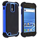 eForCity Hybrid Armor Case Compatible with Samsung Galaxy S II T-Mobile T989, Black / Blue