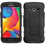 MyBat Car Armor Stand Protector Rubberized Case for Samsung Galaxy Avant - Retail Packaging - Black