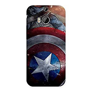 Radiant Round Captain Sheild Back Case Cover for HTC One M8
