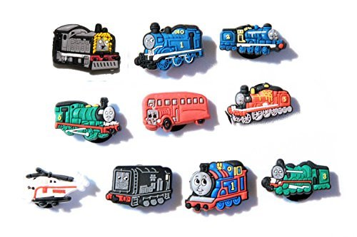 10 Thomas and Friends Shoe Charms for Croc & & Wristband Bracelet