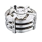 Expresso Thatte / Plate / Dhokla Stand Stainless Steel 9 Idli (3 Plates) - B01D35EFDQ