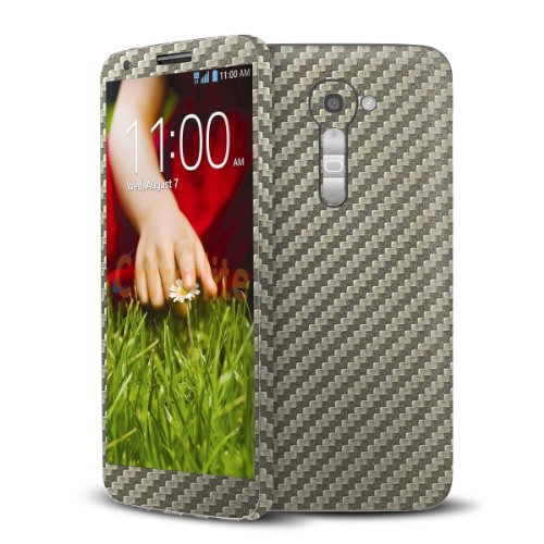Cruzerlite Titanium Carbon Fiber Skin Case for LG G2 Model VS980 - Retail Packaging (Lgg2 Carbon Fiber compare prices)