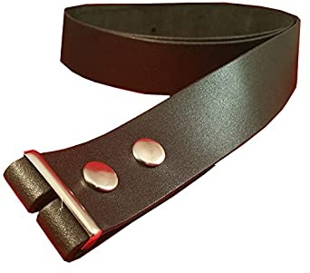 "Leather Belt to fit buckle on to. Genuine Leather Made In UK. Press Stud fastening. (Extra Large 44"" - 50"")"