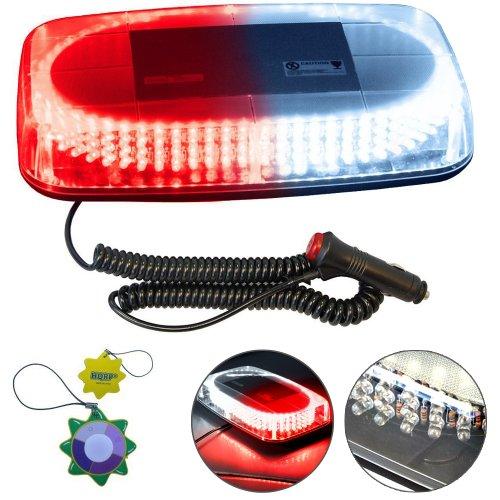 Hqrp Strobe Red And White Light 240-Led Emergency Hazard Warning Led Mini Bar Strobe Light W/ Magnetic Base For Car Trailer Rv Caravan Boat Plus Hqrp Uv Meter