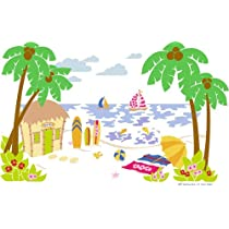 Beach Scene Paint by Number Wall Mural