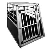 "Alu Transportbox f�r Hunde, Hundetransportbox 65x82x69cm Autohundebox 1-t�rig Hundeboxvon ""Leopet�"""