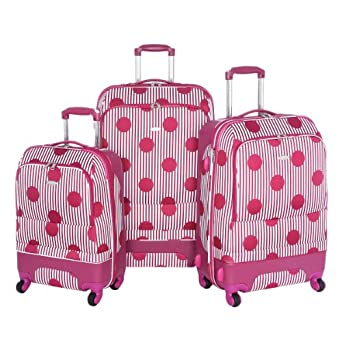 Olympia Luggage Madrid 3 Pack Expandable Hybrid Set, Pink, One Size