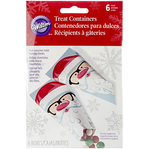 Wilton Industries 1912-5081 6-Count Santa Treat Containers