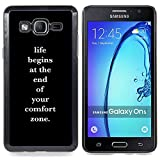 For Samsung Galaxy On5 SM-G550FY G550 - Comfort Zone Life Motivational Poster Case Cover Protection Design Ultra Slim Snap on Hard Plastic - God Garden -