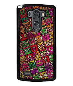 Printvisa Multiface Pattern Back Case Cover for LG G3::LG G3 D855