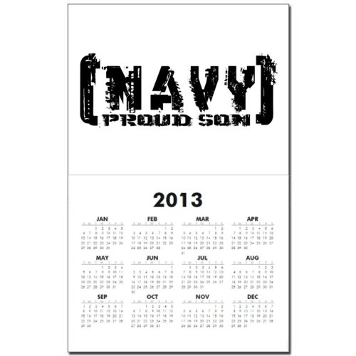 Proud NAVY Son – Tattered Style Calendar Print