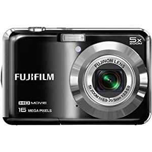 Fujifilm FinePix AX655 - 16 Megapixel Digital Camera with 5x Optical Zoom, HD 720p Video Recording, 2.7