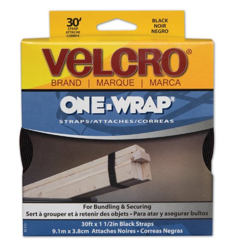 Buy Bargain Velcro One Wrap Straps, Black (91372)