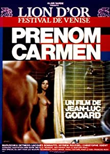 First Name: Carmen Poster Movie French 11x17 Maruschka Detmers Jacques Bonaffe Jean-Luc Godard