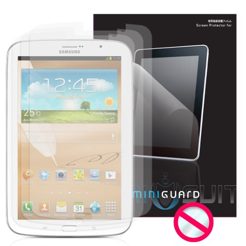 "MiniGuard Screen Protector for Samsung Galaxy Note N5100 8.0"" S-Pen Compatible (3x Pack Anti Glare)"