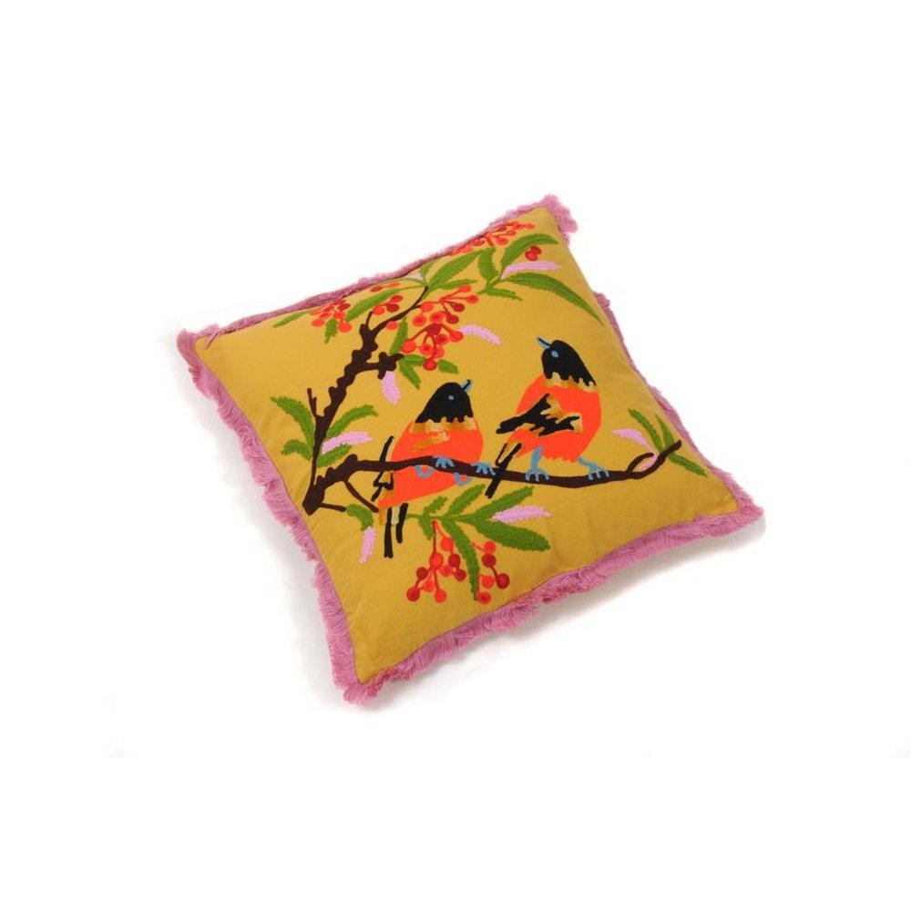 Hab&Gut (ic009) Kissen Indien Style, 40 x 40 cm, Dekokissen, Vogelmotiv kaufen