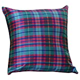 Home Kouture Polyester Single Checkmate Cushion Cover; Multicolored, 40.64 X 40.64 CM
