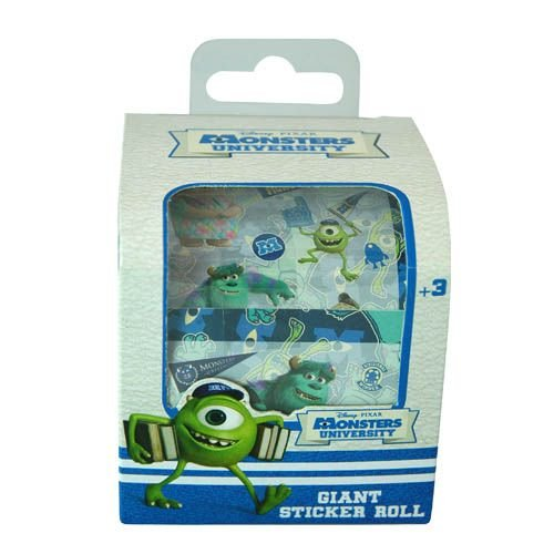 Disney Pixar Monsters University Kids Giant Sticker Roll