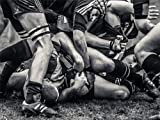 PHOTO SPORT RUGBY FOOTBALL CLOSE UP SCRUM PLAYERS BALL GAME 30x40 cms POSTER BMP11100