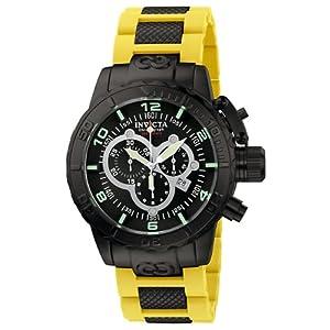 Invicta Men's 6681 Corduba Collection Chronograph Yellow Polyurethane Watch I...