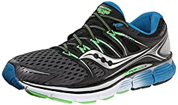Saucony Men\'s Triumph ISO Running Shoe, Grey/Black/Slime,9 M US