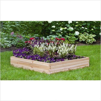 Suncast WGB48 48-Inch by 48-Inch Cedar Wood Raised Garden Kit