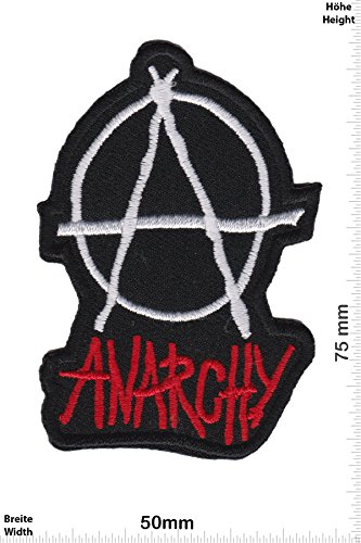 "Patch - Anarchy - small - Punks - No Nazi - Punk - Anarchy- toppa - applicazione - Ricamato termo-adesivo - Patch"""