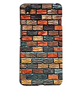 Blue Throat Different Color Bricks Pattern Printed Designer Back Cover For OnePlus X